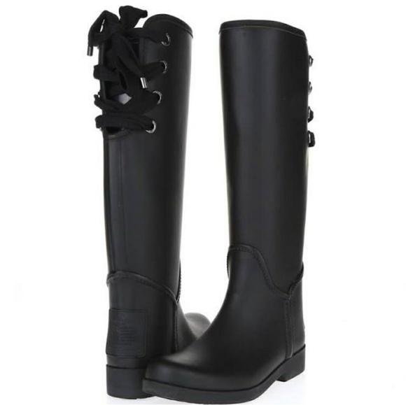 🍁Coach Tristee Rain Boots - Matte Black🍁